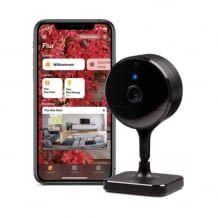 Smarte WLAN Innenkamera mit Full HD Auflösung, sicherer Privatsphäre, Bewegungssensor, Nachtsicht und Smartphone Benachrichtigungen.
