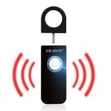 Mit extrem lauter Sirene und LED-Blitzlicht, bewirkt akustische und optische Abschreckung