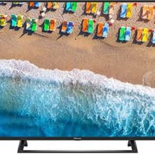 4K UHD Smart TV mit Triple Tuner, HDR10, Direct LED Backlight  und Quad Core Prozessor.