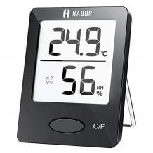 Hygrometer für die genaue Messung der Temperatur und der Luftfeuchtigkeit. Mit LCD Bildschirm und smarter Anzeige.