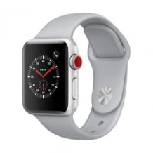 Apple Watch Series 3, 38 mm Alu. Silber, Sportarmband Nebel