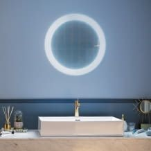 Badezimmer-Spiegel-Leuchte inkl. Dimmschalter, mit White Ambiance Funktion, 2400lm, dank IP44 - Spritzwasser geschützt