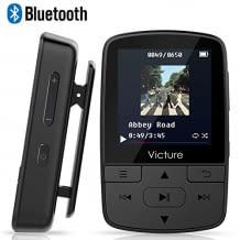 Mini Musik Player mit Clip für bis zu 30 Stunden Wiedergabe. Mit Bluetooth Empfang und integriertem FM Radio. Klein, kompakt und mit viel Kapazität.