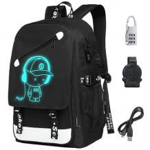 Schulrucksack für Jugendliche mit USB-Anschluss für Powerbanks