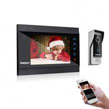 Video Türsprechanlage mit Türklingel, inkl. WLAN Monitor. Mit Bewegungserkennung, App-Benachrichtigungen, Weitwinkel und Nachtsicht