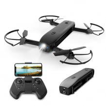 Faltbare Mini Drohne mit HD Kamera und Liveübertragung. Mit langer Flugzeit und optischer Flow Positionierung.