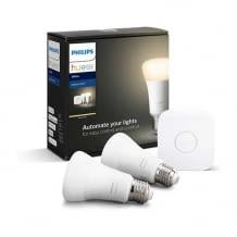 Zwei Lampen inkl. Bridge, dimmbar, warmweißes Licht, steuerbar via App, kompatibel mit Amazon Alexa und Apple HomeKit