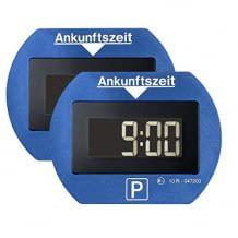 2er-Set von zwei digitalen Parkuhren mit Bewegungssensor und Nacht-Park-Funktion.