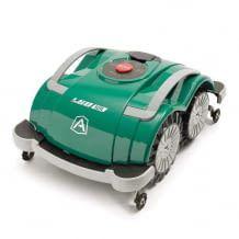 Mähroboter ohne Begrenzungskabel für Rasenflächen bis 400 Quadratmeter. Bedienung am Gerät oder per Bluetooth App.