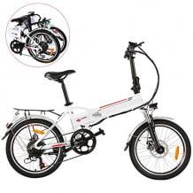 Faltbares 20 Zoll E-Bike nutzbar im Normalmodus, Elektromodus oder Assistenzmodus, mit Hupe und LED-Scheinwerfern