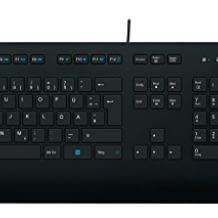 Kabelgebundene Tastatur für Windows, Linux und Chrome. Mit Handballenauflage und flachen Tasten für hohen Arbeitskomfort.