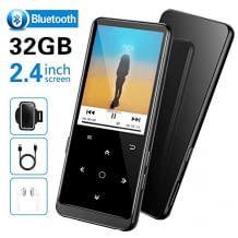 MP3 Player mit Bluetooth und erweiterbarem 32 GB Speicher. Für hochwertigen HiFi-Sound. Unterstützt Musikspeicher, UKW-Radio, Bildsuche und Lesen von E-Books.