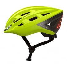 Intelligenter Fahrradhelm mit Vorder- und Rücklicht, Bremslicht und Blinker. Steuerung mit Fernbedienung oder Apple Watch.