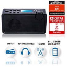 Internetradio mit 20 Senderspeicherplätzen. Mit DAB, DAB+, UKW und FM Empfang. Mit Sleep-Timer und Kopfhöreranschluss.