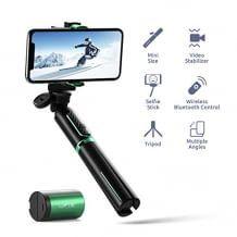 Mit hervorragender Batterieleistung und erweiterbarem Selfie-Stick und Stativ. Stabilere Aufnahmen dank ARM-Prozessor.
