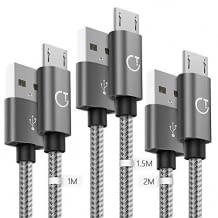 3er Set bestehend aus je einem Kabel mit 1m / 1,5m / 2m Länge, inkl. schneller Datenübertragung und robustem Design