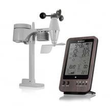 Funk-Wetterstation mit Komfortindex-Anzeige und 5-in-1 Außensensor für Temperatur, Luftfeuchtigkeit, Niederschlag und Wind.