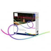 Farbiger LED-Strip für den Außenbereich mit durchgehendem Lichtband. Kompatibel mit ZigBee.