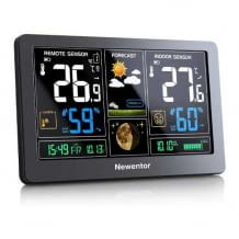 Misst Temperatur & Luftfeuchtigkeit innen und außen sowie den Luftdruck. Inklusive Komfortindex-Anzeige.