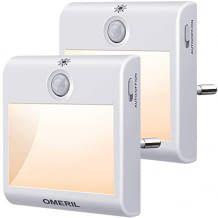 Augenschonendes Nachtlich mit 8 LEDs, 3 unterschiedlichen Modi und einstellbarer Helligkeit.