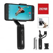 Stabilisator in Pocket Size mit hoher Akkukapazität. Grandiose Funktionen für Portraitaufnahmen und 360°-Rollbewegung.