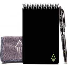 Wiederverwendbares Notizbuch in A6; Notizen direkt in die Cloud hochladen und Seite mit einem Tuch sauber machen.