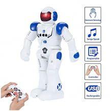 Dieser Multifunktionsroboter kann singen, tanzen, vorwärts, rückwärts, links oder rechts gehen und seine Arme bewegen.