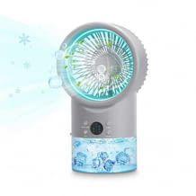Mini Luftkühler mit Ventilator und Luftbefeuchter. Mit Timerfunktion, 3 Leistungsstufen und 7 LED Stimmungslichter.