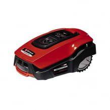 Mähroboter mit Einhell PXC Systembatterie für Gärten bis max. 1.200 qm. Bedienung per App oder LCD-Display am Gerät. Inklusive Installations-Zubehör.