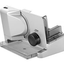 Elektrischer Allesschneider mit ECO-Motor und mit zusätzlichem Schinken-/ Aufschnittmesser, made in Germany