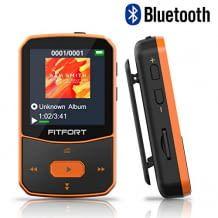 Bluetooth MP3 Player mit hoher Rauschunterdrückung. Ultraleicht und kompakt. Bis zu 30 Stunden Wiedergabe. Mit Farbdisplay und vielfältigen Funktionen.