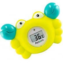 Wasser- und Raumthermometer mit LED-Warnleuchte und gut lesbarem LCD-Display. Im Spielzeug-Look.