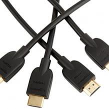 2er Set UHD HDMI 2.0 Kabel mit 24-karätiger Goldbeschichtung der Kontakte für höchste Korrosionsbeständigkeit.