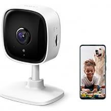 WLAN IP Überwachungskamera für den Innenbereich. Mit Full-HD Auflösung, klarer Nachtsicht, 2 Wege Audio und Sprachsteuerung.