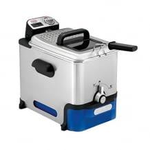 automatische Öl-/Fett-Filterung, bis auf elektrisches Bedienelement, komplett zerlegbar und spülmaschinengeeignet