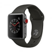 Apple Watch Series 3, 38 mm Alu. Space Grau, Sportarmband Grau