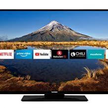 Smart TV mit Full HD, Triple Tuner und integriertem WLAN- und USB-Media-Player.