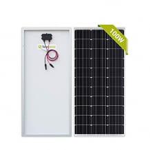 100w hocheffizientes Solarpanel für 12V Solarladesystem. Mit voreingestellten Befestigungslöcher am Rahmen für eine einfache Montage.