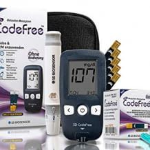Großes Starter-Kit als Sparpackung, mit allem was man für hygienisches und schnelles Blutzuckermessen benötigt.