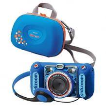 Robuste Digitalkamera mit integriertem Musik-Player, Film-Funktion, Bildbearbeitung und Spielen. Mit Vorder- und Rückkamera, sowie Tragetasche.