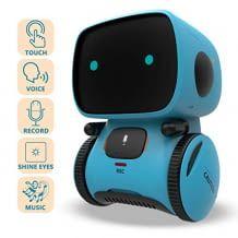 Interaktives Roboter Lernspielzeug mit LED-Augen, Touchsteuerung und Sprachaufnahme, hergestellt aus hochwertigem ABS-Kunststoff