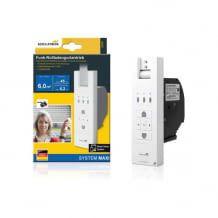 Elektrischer Funk Unterputz Gurtwickler, der sich optional mit dem Smart Friends System oder einem Quivicon Smart Home System koppeln lässt.