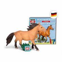 Pferde-Spielfigur mit zwei Was-ist-was-Geschichten über Pferde. Ideal zum Spielen und Lernen. Ca. 79 Minuten Laufzeit.