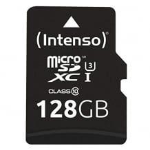 Micro-SD Speicherkarte mit SD Adapter und mechanischem Schreibschutz gegen unbeabsichtigtes Überschreiben.