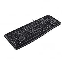Kabelgebundene Tastatur für leises Tippen. Mit einstellbarem Tastaturaufsteller und langlebigem Design.