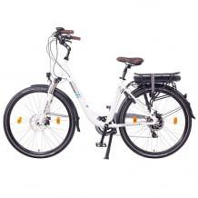 Robustes City E-Bike mit leistungsstarkem Akku für bis zu 90 km, 250W Heckmotor und 7-Gang-Getriebe