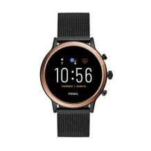 Smartwatch with WearOS with loudspeaker, heart rate measurement, NFC and smartphone notifications.