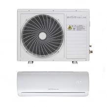 Energieeffiziente Split Klimaanlage, die an heißen Sommertagen für kühle Innenräume sorgt. Mit Luftentfeuchtungsfunktion.