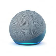 Amazons nachhaltig produzierter Echo Dot mit 42 Millimeter Lautsprecher und 3,5 mm Stereo-Audioausgang
