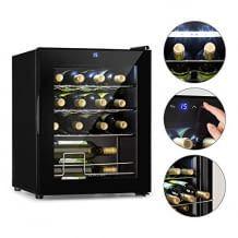 Edles Design kombiniert mit Soft-Touch-Bedienfeld. Passend für 16 Flaschen Wein und besonders stromsparend.